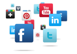 Social Media Squares - White Background